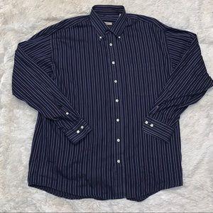 Burberry London Men's Striped Dress Shirt Size XL